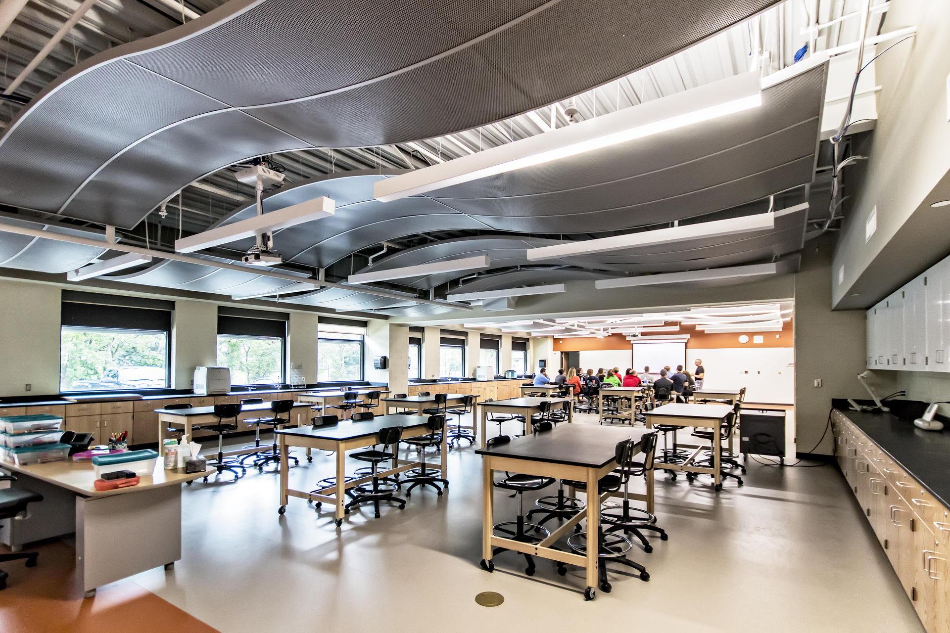 Modern High School Classroom : Ian mikardo high school community
